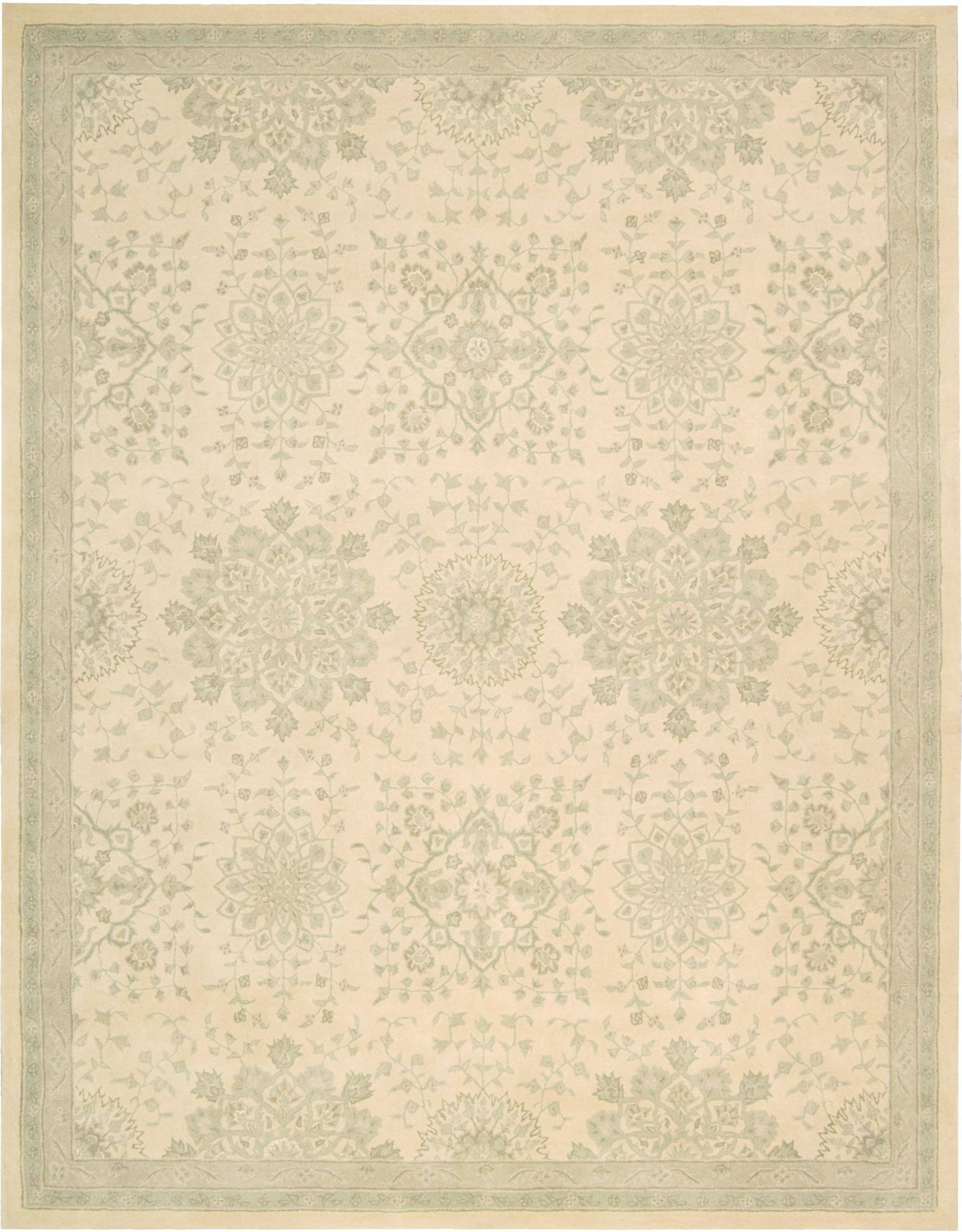 "Royal Serenity St. James Bone Rug - 4 Size Options Rugs Nourison 3'9"" x 5'9"" Accent"