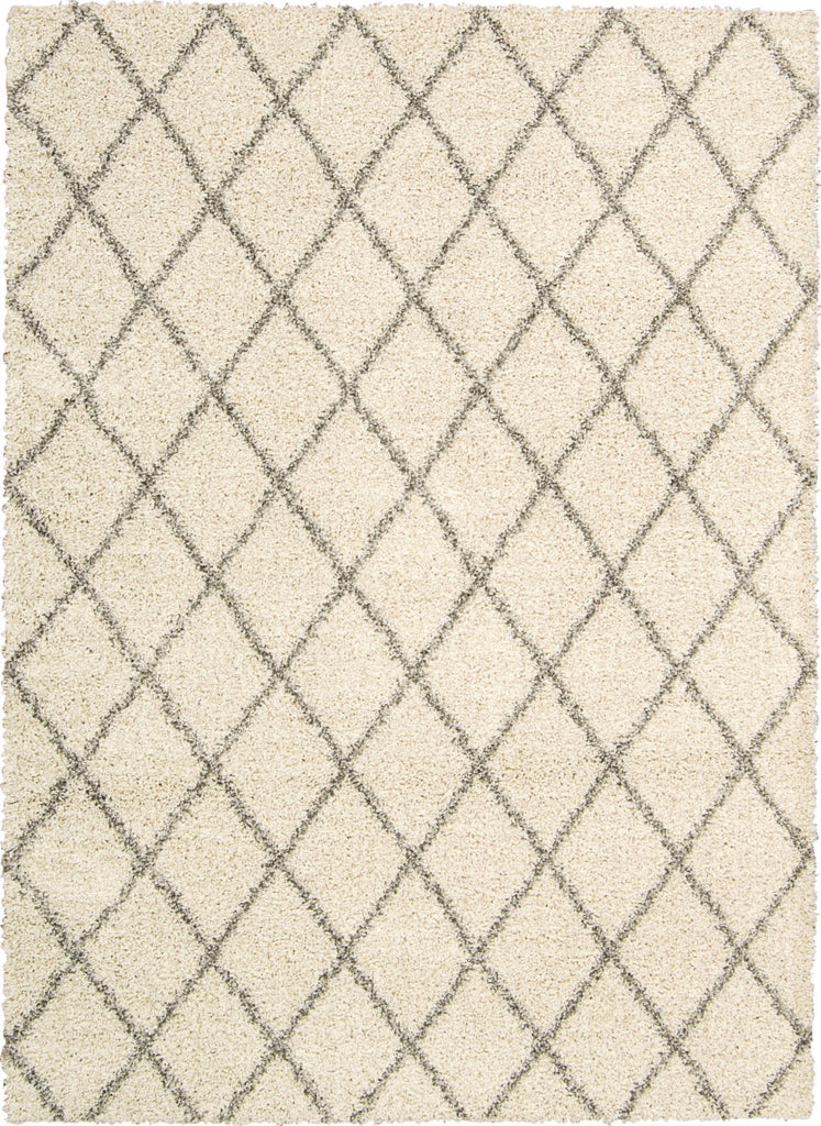 "Brisbane Cream Shag Area Rug 8'2"" x 10' Rugs Nourison Cream"