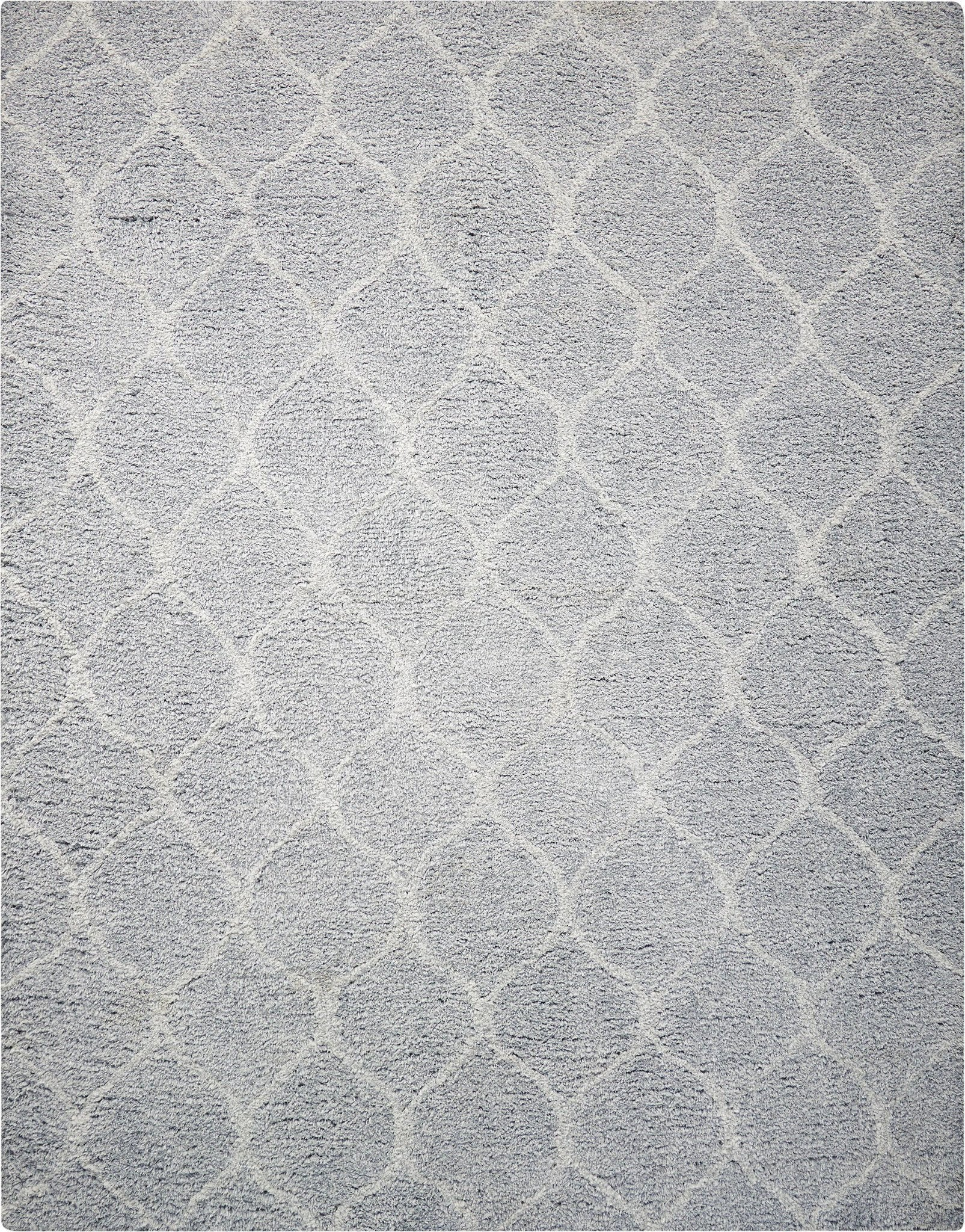 "Galway Light Grey Shag Area Rug 7'6"" x 9'6"" Rugs Nourison"