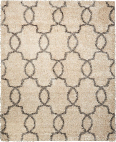 "Escape White Shades Shag Rug - 3 Size Options Rugs Nourison 3'11"" x 5'11"""