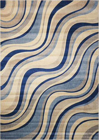 Somerset Ivory/Blue Rug - 10 Size and Shape Options