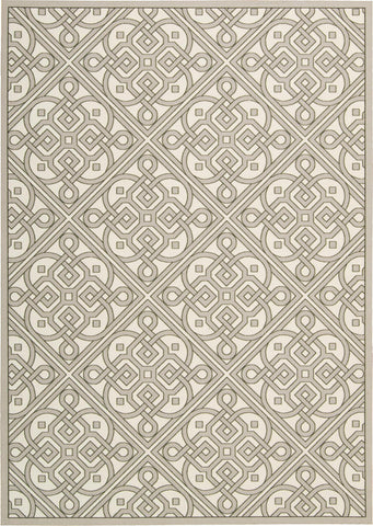 Waverly Sun & Shade Lace It Up Stone Indoor/Outdoor Rug By Nourison 10' x 13'
