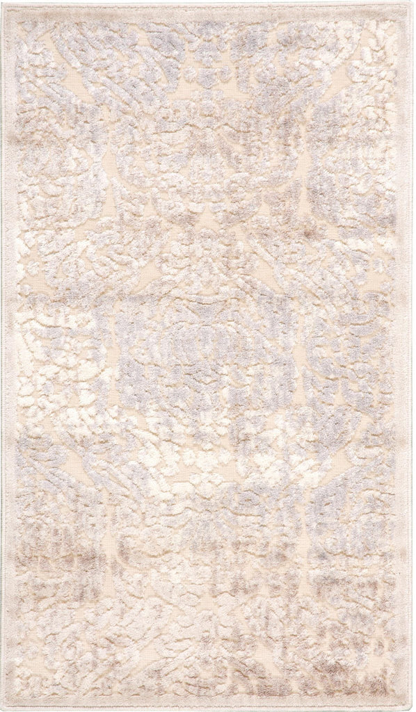"Graphic Illusions Ivory Rug - 10 Size and Shape Options Rugs Nourison 2' x 5'9"" Runner"