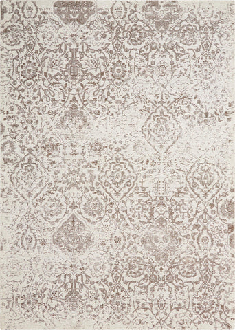 Damask Ivory Rug - 3 Size Options