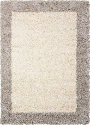 "Nourison Amore Ivory/Silver Shag Area Rug 3'11"" x 5'11"""