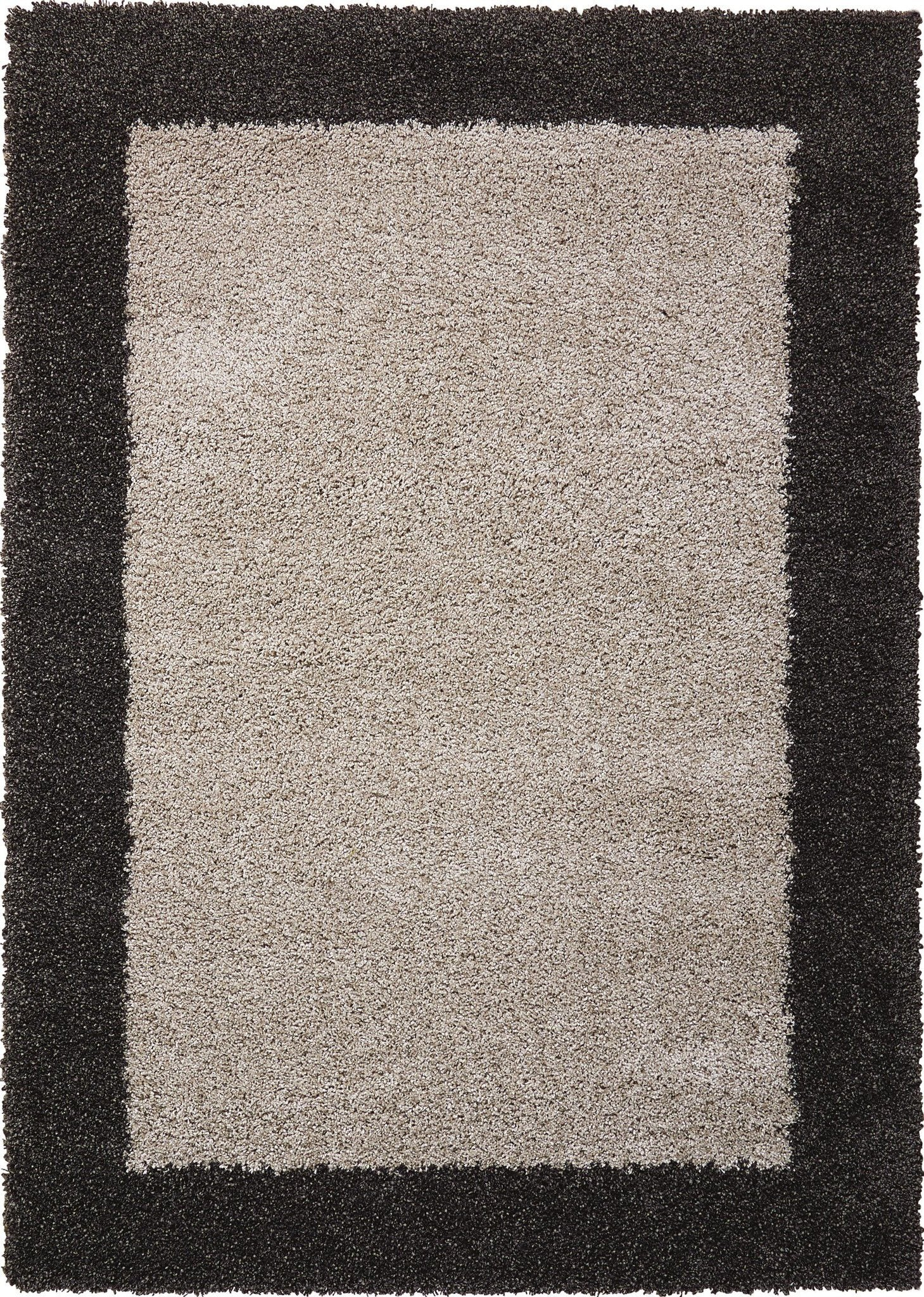 "Amore Silver/Charcoal Shag Area Rug 3'11"" x 5'11"" Rugs Nourison 3'11"" x 5'11"""