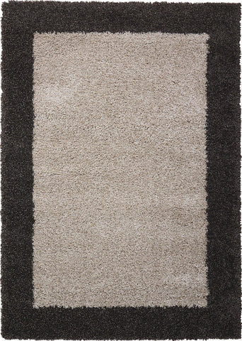 "Nourison Amore Silver/Charcoal Shag Area Rug 3'11"" x 5'11"""