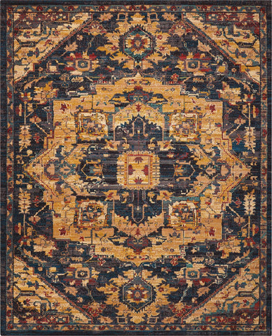 "2020 Midnight Rug - 12 Size and Shape Options Rugs Nourison 5'3"" x 7'5"" Area"