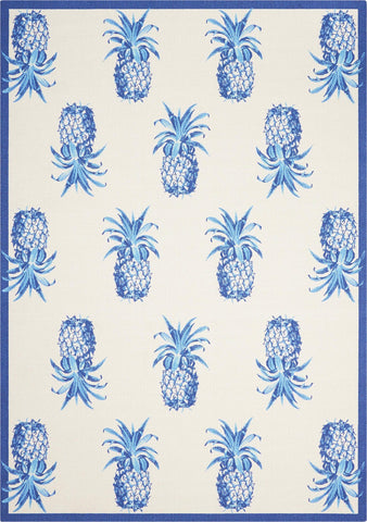 "Sun & Shade Pineapple Grove Ivory Indoor/Outdoor Rug - 3 Size Options Rugs Nourison 5'3"" x 7'5"""