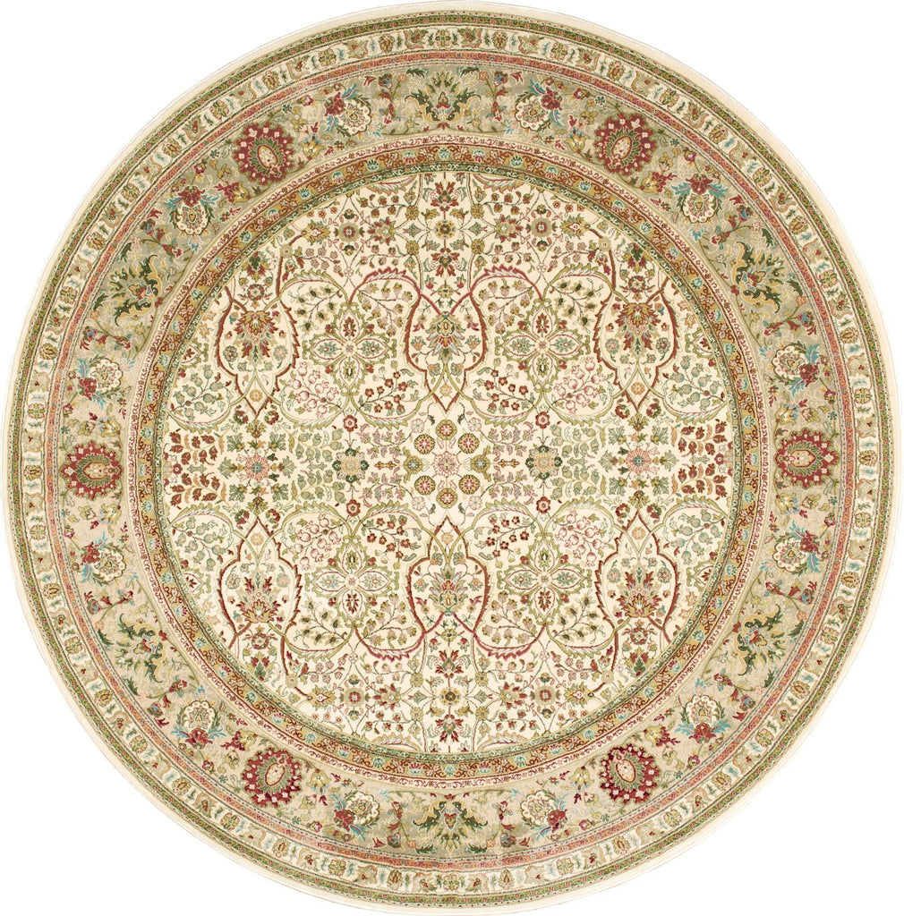 "Antiquities American Jewel Ivory Rug - 8 Size and Shape Options Rugs Nourison 3'9"" Round"
