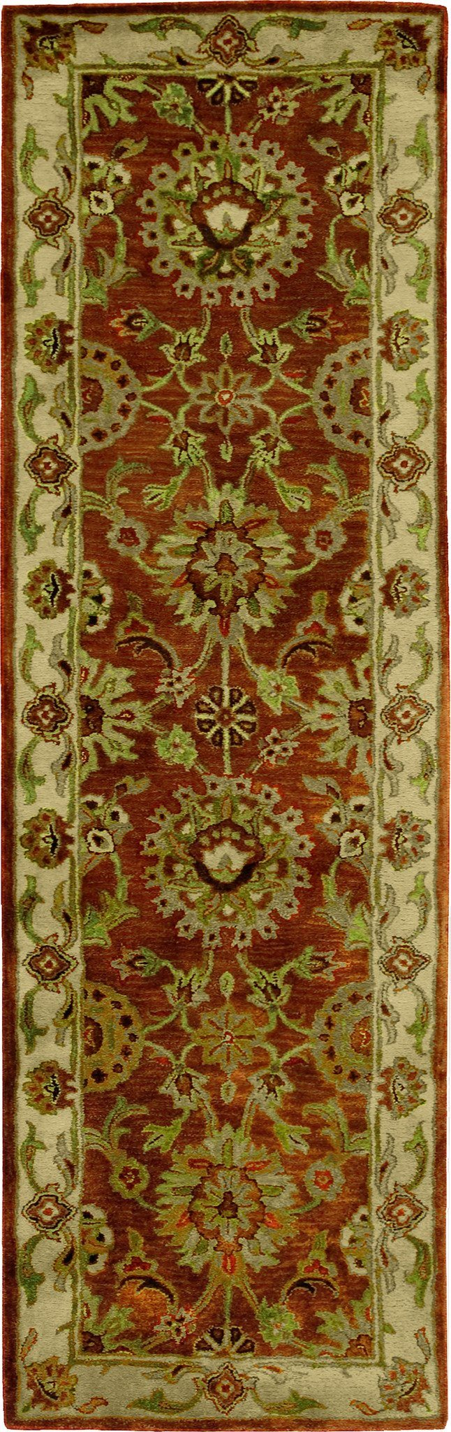 "Jaipur Rust Rug - 8 Size and Shape Options Rugs Nourison 2'4"" x 8' Runner"