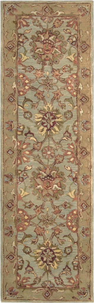 "Jaipur Aqua Rug - 9 Size and Shape Options Rugs Nourison 2'4"" x 8' Runner"