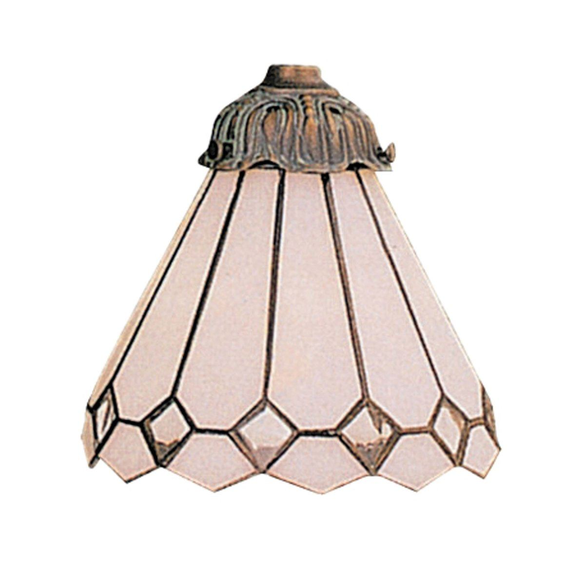 Mix-N-Match 1 Light White Tiffany Glass Shade Shades/Glass Elk Lighting