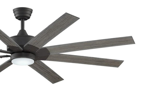Levon Custom Ceiling Fan DC Motor Only - Matte Greige