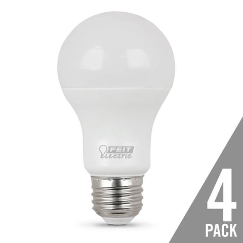 A19 40 Watt Equiv., 10 Year 11K, Non-Dimmable, 5000K, 4 Pk