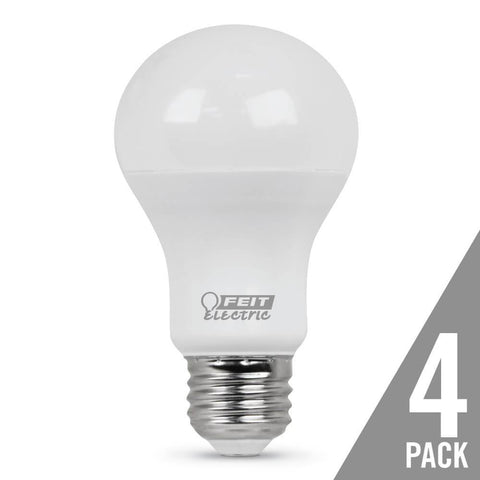 A19 60 Watt Equiv., 10 Year 11K, Non-Dimmable, 2700K, 4 Pk