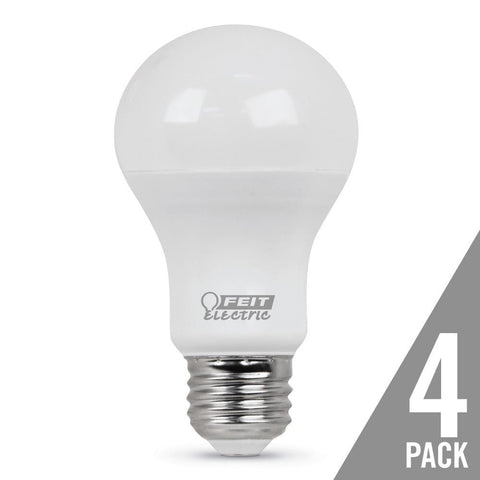 A19 60 Watt Equiv., 10 Year 11K, Non-Dimmable, 5000K, 4 Pk