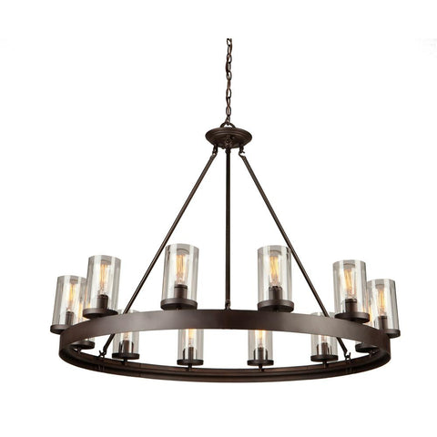 "Menlo Park 41.5""w Oil Rubbed Bronze Chandelier Ceiling Artcraft"