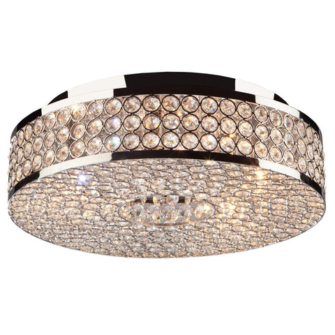 "Bella Vista 13.75""w Chrome Flush Mount Ceiling Artcraft"