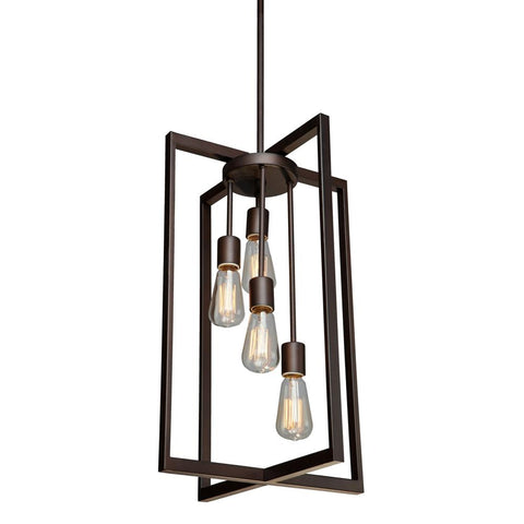 "Gastown 14""w Oil Rubbed Bronze Chandelier Ceiling Artcraft"