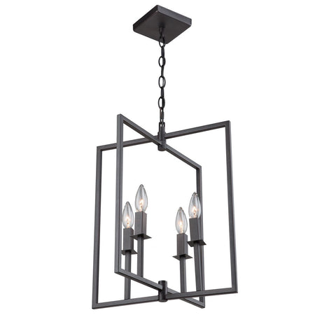 "Allston 15""w Oil Rubbed Bronze Chandelier"
