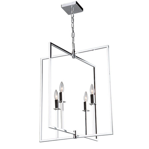 "Allston 20""w Chrome Pendant Chandelier"