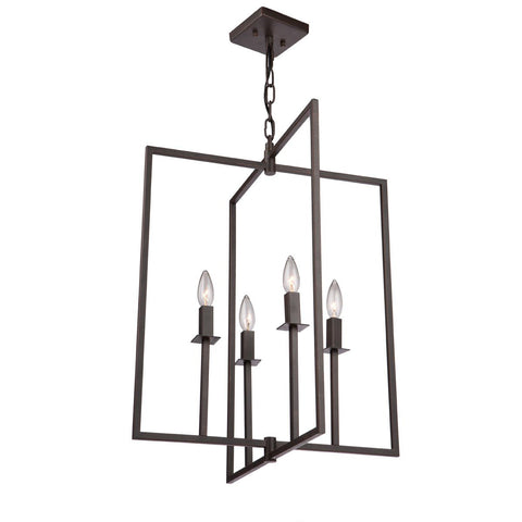"Allston 20""w Oil Rubbed Bronze Pendant Chandelier"