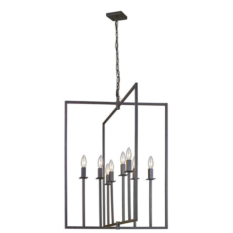 "Allston 24""w Oil Rubbed Bronze Pendant Chandelier"
