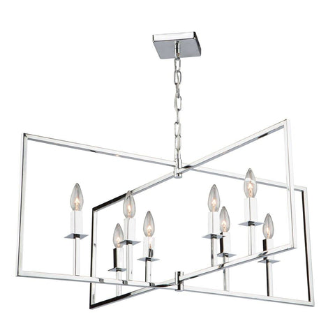 "Allston 35.5""w Chrome Pendant Chandelier"