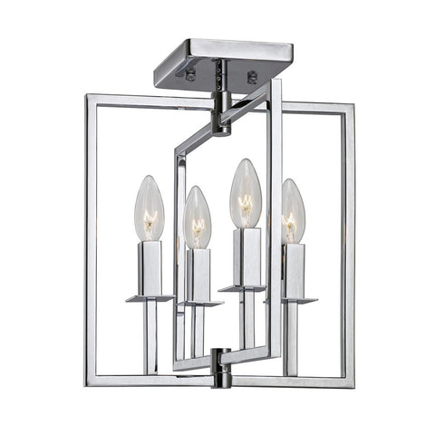 "Allston 12""w Chrome Flush Mount Ceiling Artcraft"