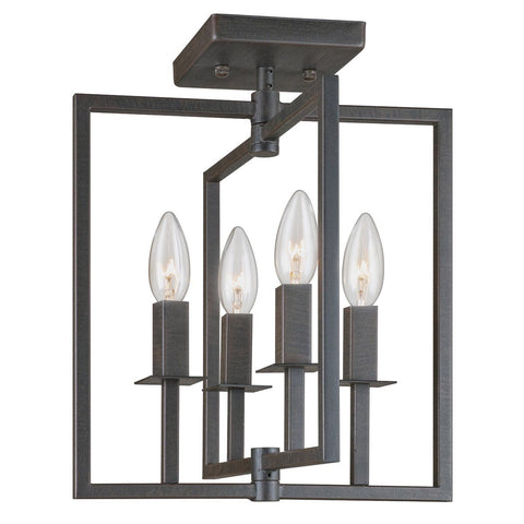 "Allston 12""w Oil Rubbed Bronze Flush Mount"