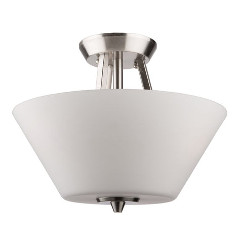 "Clayton 13""w Brushed Nickel Flush Mount"