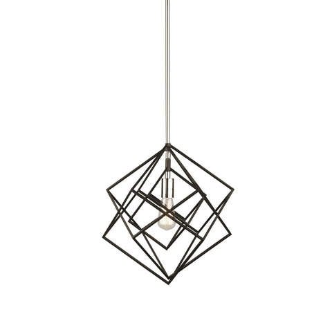 "Artistry 16""w Polished Nickel Pendant"