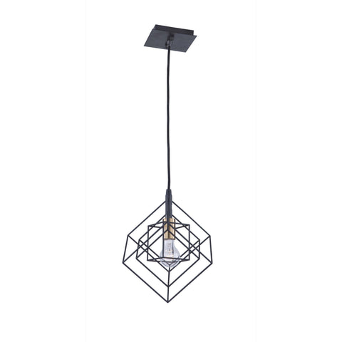 Artistry 9.75 in. wide Black and Brass Pendant