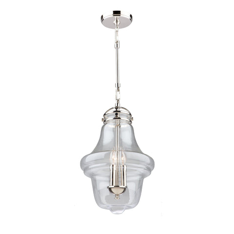 "Alexandria 12""w Polished Nickel Pendant"