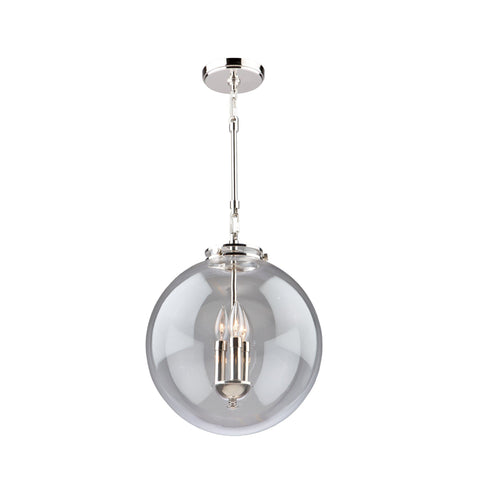 "Alexandria 14""w Polished Nickel Pendant"