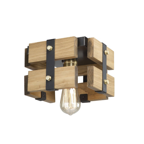 Barnyard 9 in. wide Honey Flush Mount