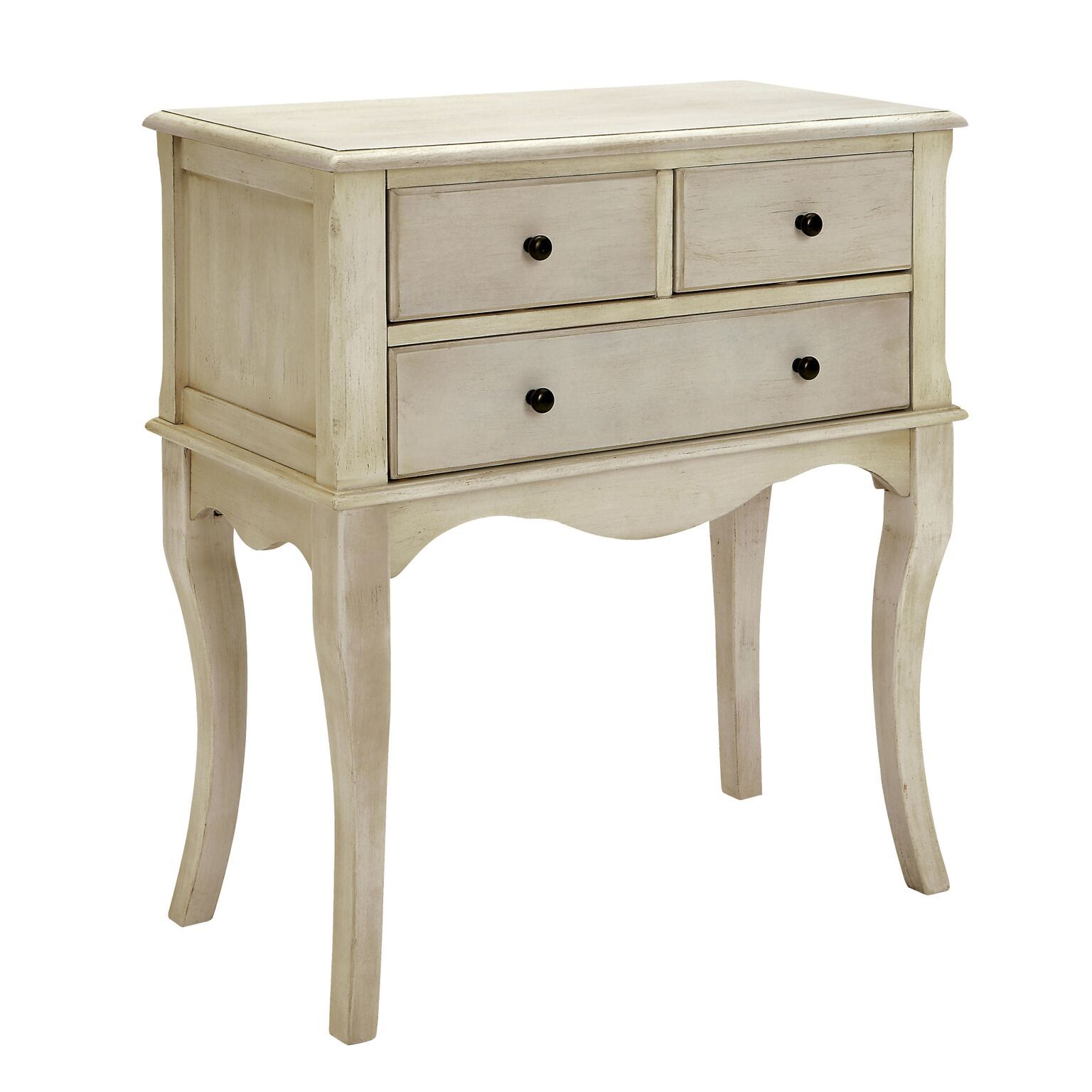 Gea 3-Drawer Chest Antique White Furniture Enitial Lab
