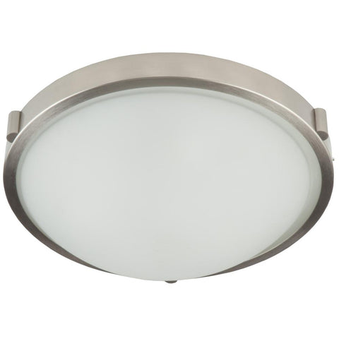"Boise 10""w Brushed Nickel Flush Mount"