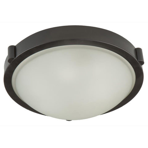 "Boise 13""w Oil Rubbed Bronze Flush Mount"