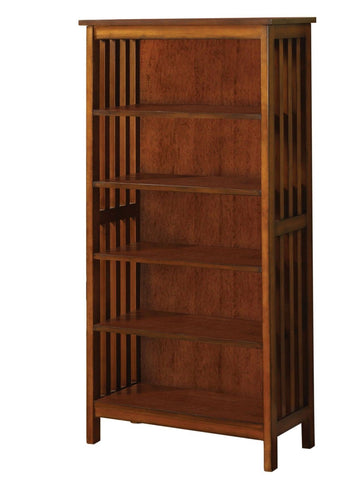 Waver Mission Style 5-Shelf Display Stand Oak