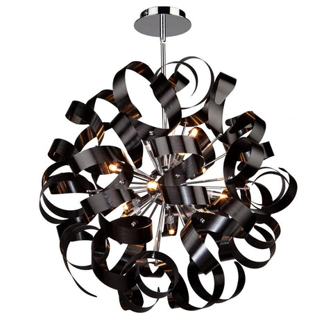 "Bel Air 24""w Metallic Black Ribbon Pendant Ceiling Artcraft"