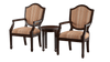 Clara 3-Piece Accent Table & Chair Set Espresso Furniture Enitial Lab