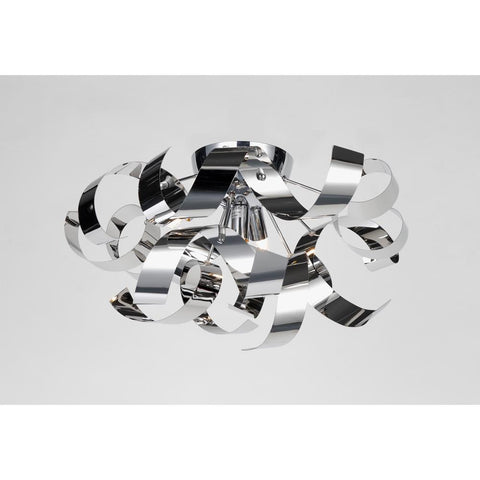 "Bel Air 19""w Chrome Ribbon Flush Mount"