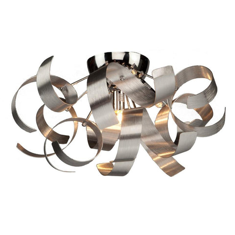 "Bel Air 19""w Brushed Nickel Ribbon Flush Mount Ceiling Artcraft"