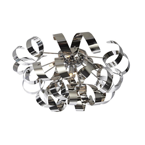 "Bel Air 23.5""w Chrome Ribbon Flush Mount Ceiling Artcraft"