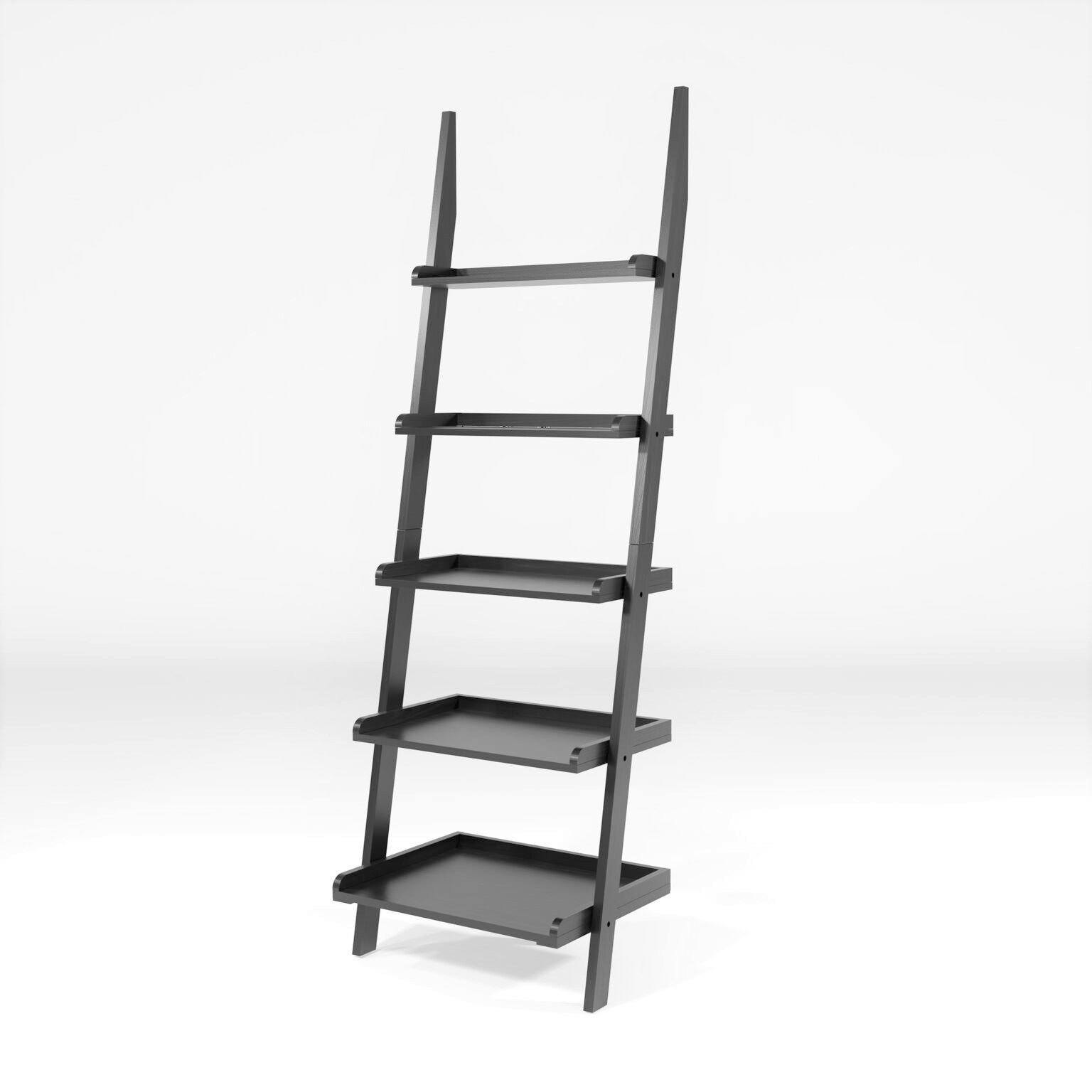 Muire 5-Tier Ladder Display Stand Black Furniture Enitial Lab
