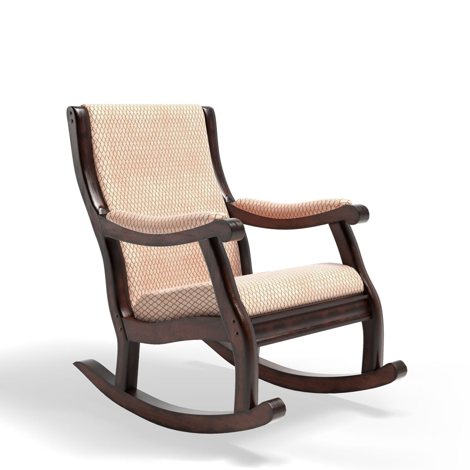 Pattison Fabric Upholstered Rocking Chair Antique Oak Furniture Enitial Lab