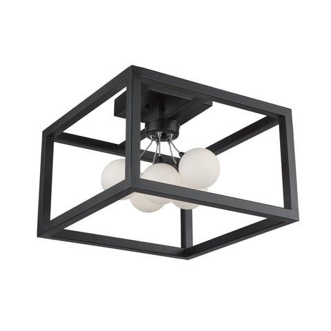 Massey 14.5 in. wide Black Flush Mount Ceiling Artcraft
