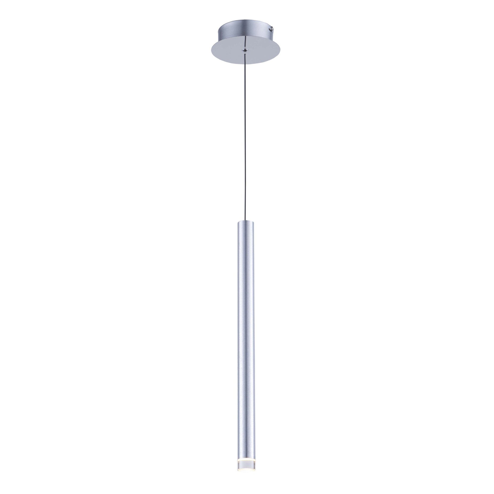 Galiano 1.5 in. wide Satin Aluminum Pendant